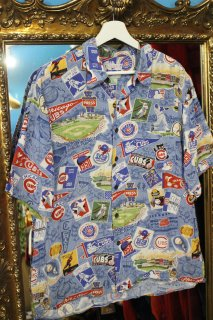 MLB CHICAGO CUBS S/S SHIRT(シカゴ・カブス レーヨン シャツ)