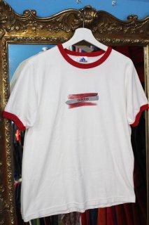 ADIDAS LAME PRINT TRIM T-SHIRT(アディダス ラメプリント トリム Tシャツ)