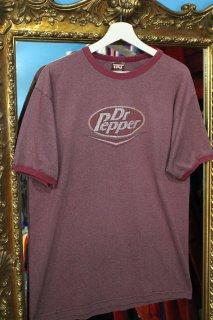 DR PEPPER LOGO TRIM T-SHIRT(ドクター・ペッパー ロゴ トリム Tシャツ)