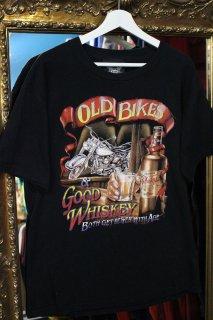 OLD BIKES&GOOD WHISKEY T-SHIRT(オールド・バイク&グッド・ウイスキー Tシャツ)
