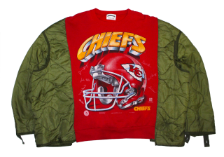 REMAKE QUILTING SWEAT TOPS(CHIEFS)