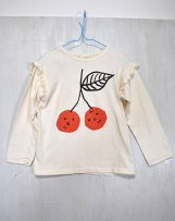 n203-1507_02 さくらんぼ肩フリルTシャツ M,L,XL