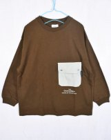 g1608452_9 テンジク L/S POCKET BIG TEE 130,140cm