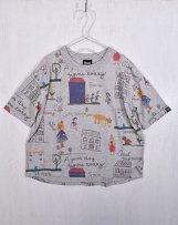 n2121116_top T/C Child's drawing-Print Big T-shirts  130,140,150cm