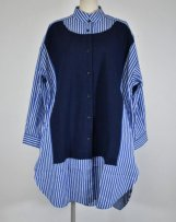 n2221253A_nv Big Stripe Blouse