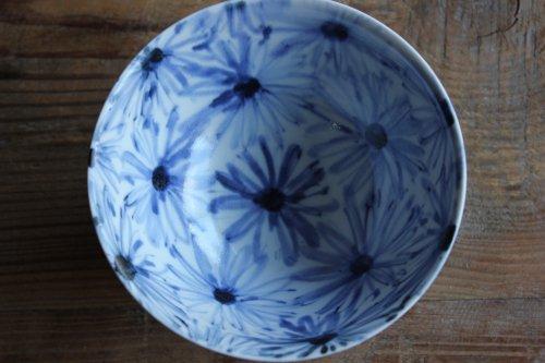 ■亀山サ苗:染付碗 花鳥文