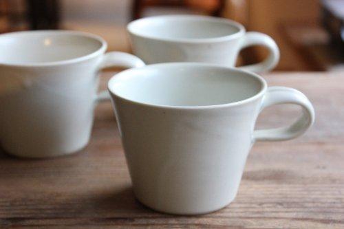 ■亀田大介:白磁コーヒーカップ