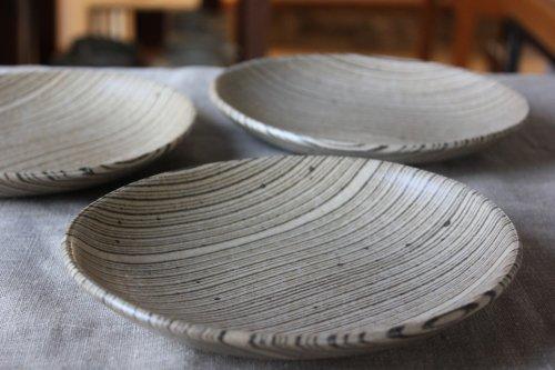 ■田鶴濱優香:練り込み6寸皿