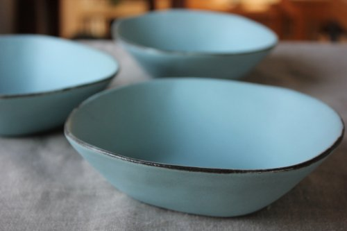■石岡信之:淡青チロル鉢(小)