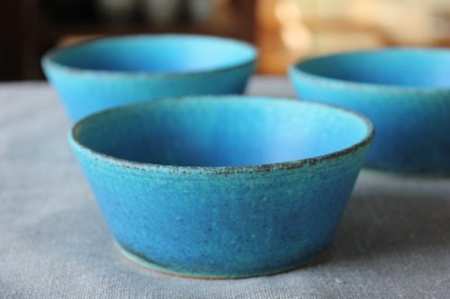 ■遊楽窯:トルコ釉小鉢S