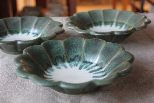 ■宮川裕美子:緑釉輪花鉢