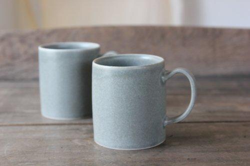 ■桑原哲夫:グレー釉マグカップ