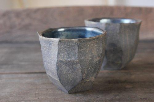 ■山本哲也:鉄釉白泥彩カップ
