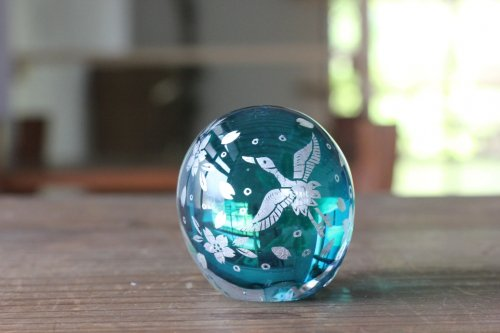 ■平田友美:Glassrium mini 鶴と桜