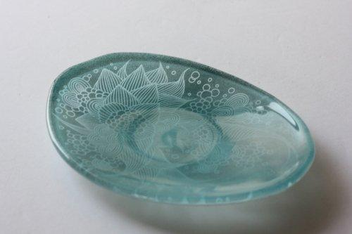 ■平田友美:Birth plate blue C
