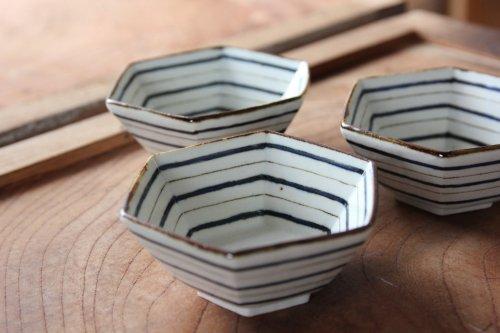 ■高島大樹:六角小鉢(ボーダー)