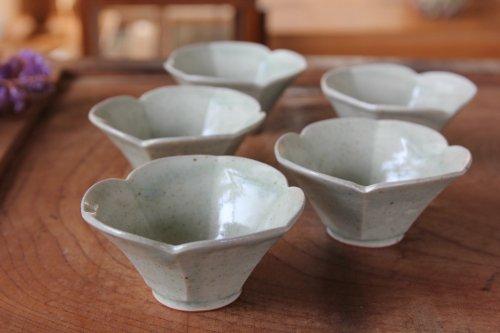 ■高島大樹:緑滴釉桔梗小鉢