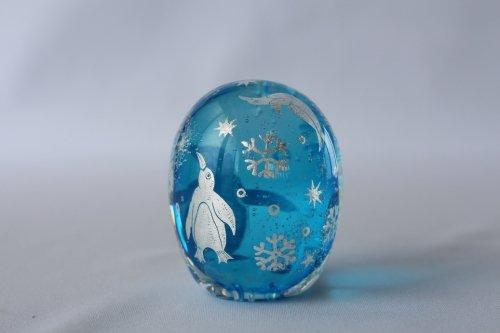 ■平田友美:Glassrium mini ペンギンA