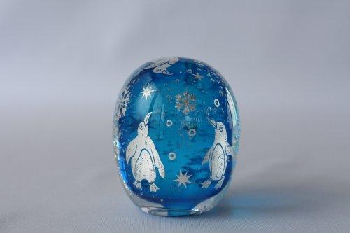 ■平田友美:Glassrium mini ペンギンB