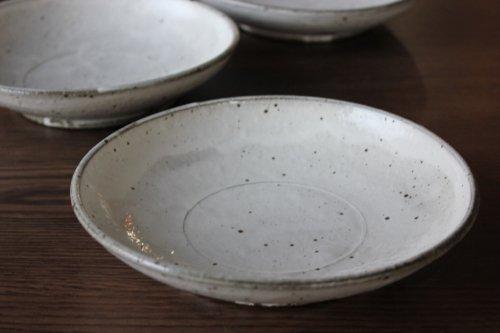 ■角掛政志:粉引6寸皿