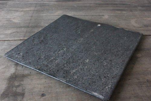 ■角掛政志:黒釉スクエアプレート L