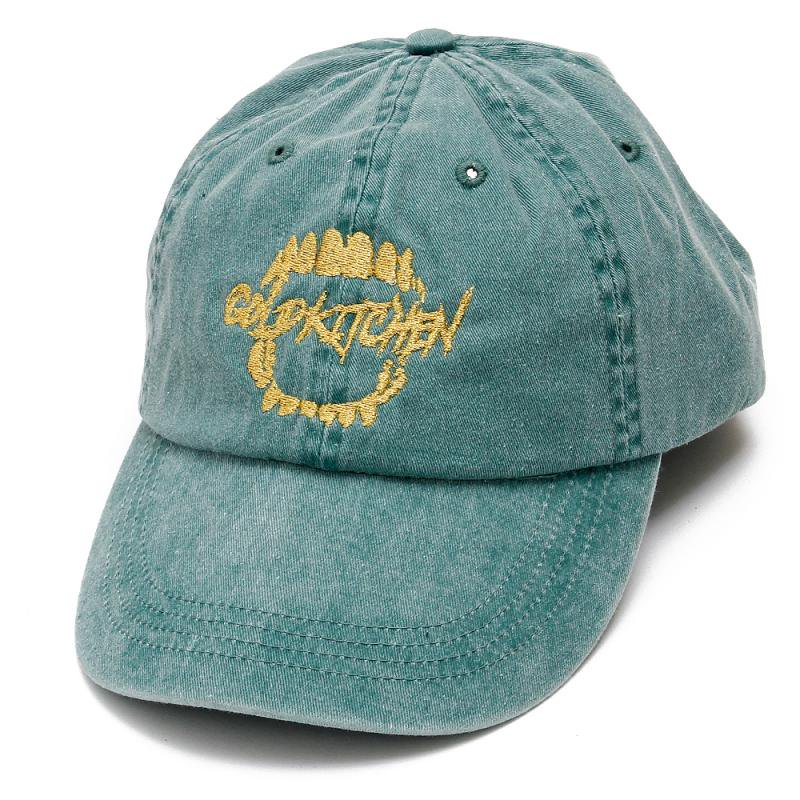 SCRIPT LOGO PIGMENT CAP [GREEN]