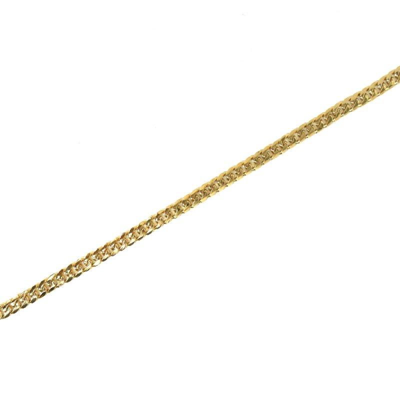 MIAMI CUBAN CHAIN BRACELET 10K YG 23cm