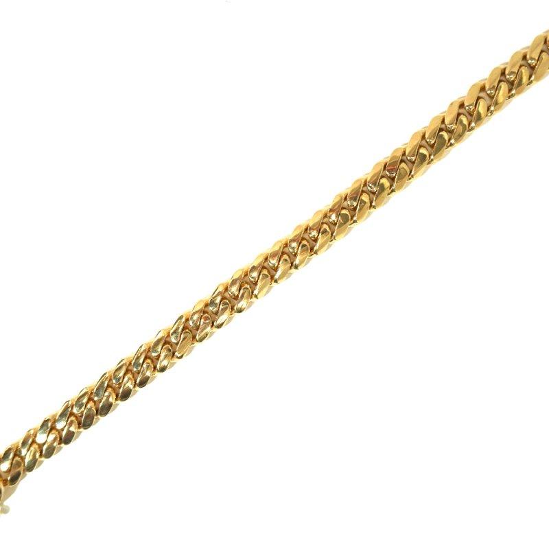 MIAMI CUBAN CHAIN BRACELET 10K YG 21cm