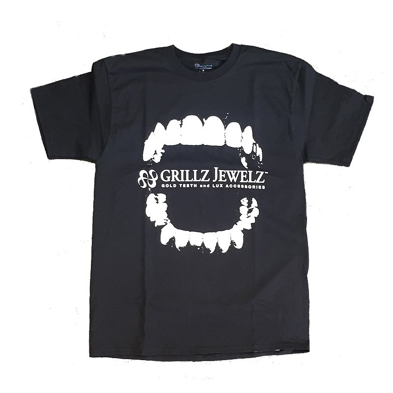GRILLZ JEWELZ ORIGINAL LOGO TEE [BLACK]