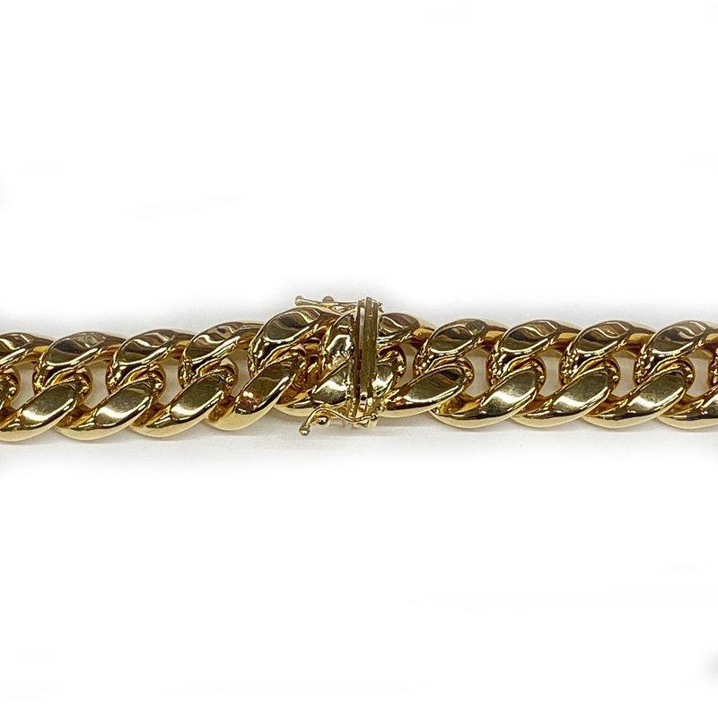MIAMI CUBAN CHAIN 10K YG 14.5mm,70cm 【HOLLOW】(中空タイプ)