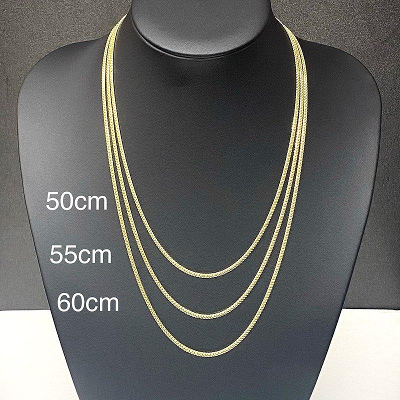 MIAMI CUBAN CHAIN 10K Yellow Gold 2.5mm  50cm/55cm/60cm  【SOLID】