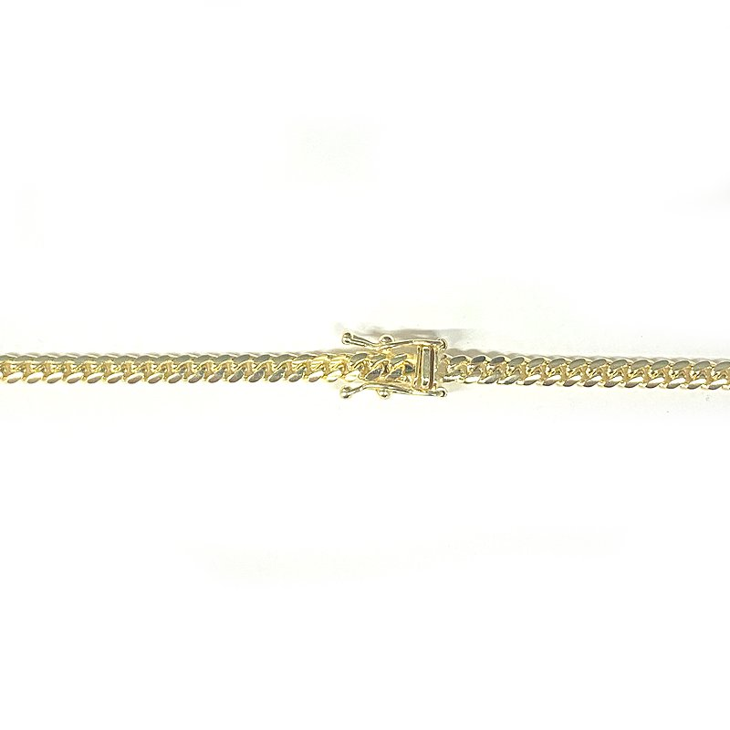 MIAMI CUBAN CHAIN 10K Yellow Gold 3.0mm  50cm/55cm/60cm  【SOLID】