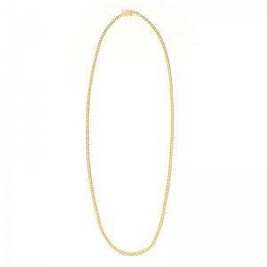 MIAMI CUBAN CHAIN 10K Yellow Gold 3.0mm  50cm/55cm/60cm  【SOLID】
