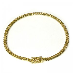 MIAMI CUBAN CHAIN BRACELET 10K YG 4mm 20cm