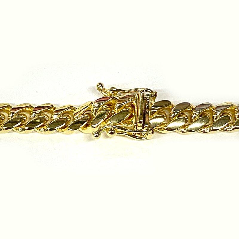 MIAMI CUBAN CHAIN BRACELET 10K YG 6mm 20cm