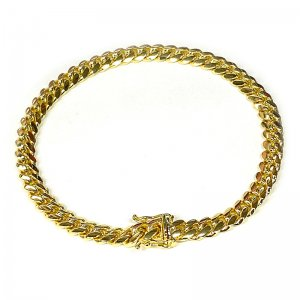 MIAMI CUBAN CHAIN BRACELET 10K YG 6mm 20cm