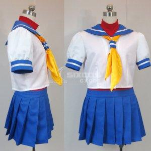 ストリートファイターZERO2 春日野さくら 風 コスプレ衣装 Street Fighter Zero02-sakura Ksugano Cosplay Costume