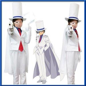 名探偵コナン 怪盗キッド 風 子供向け キッズ用大人用 コスプレ衣装 Detective Conan-Kaitou Kiddo cospaly costume