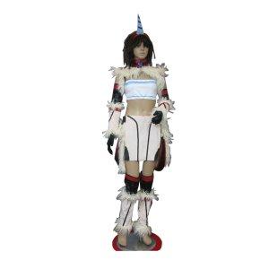 モンスターハンター キリン装備 風 コスプレ衣装  Monster Hunter / MHF - Kirin Armor Cosplay Costume C