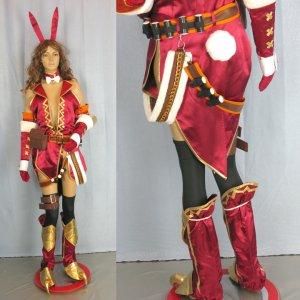 モンスターハンター 赤いバニー 風 コスプレ衣装  Monster Hunter/MHF - Cosplay Costume