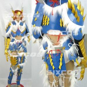 モンスターハンター MHP3 ジンオウ装備 剣士 風 コスプレ衣装 Monster Hunter / MHF Cosplay Costume