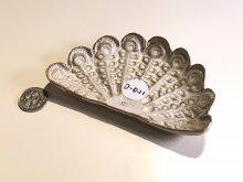 D021:孔雀の羽の小皿:元値3000円