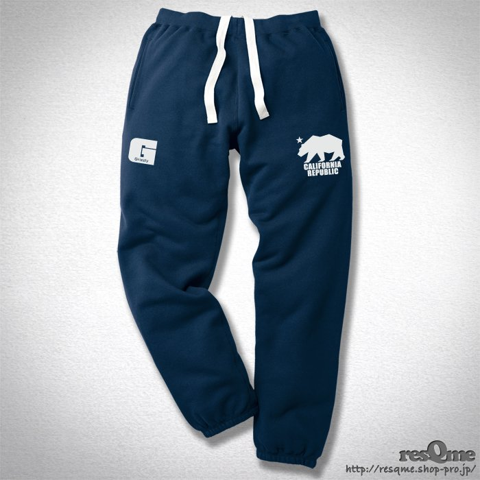 Grizzly - California Republic スウェットパンツ(Navy)