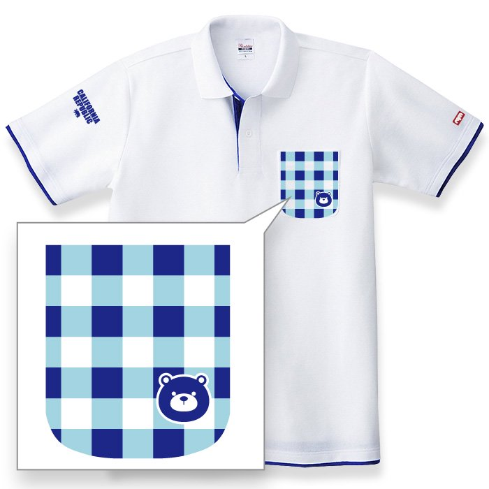 Grizzly Checked Polo(White x RBlue_01)