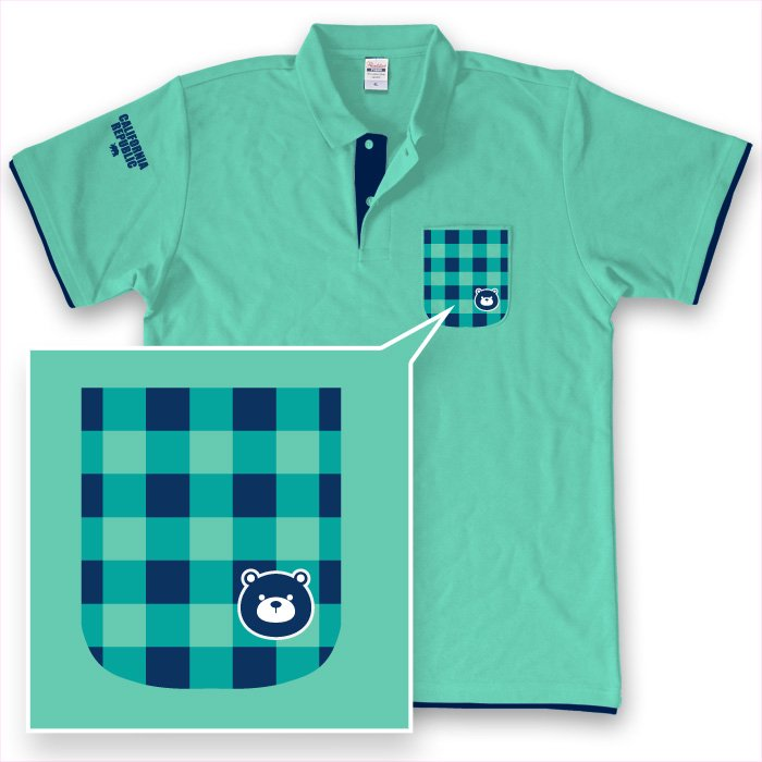 Grizzly Checked Polo(Mint x Navy)