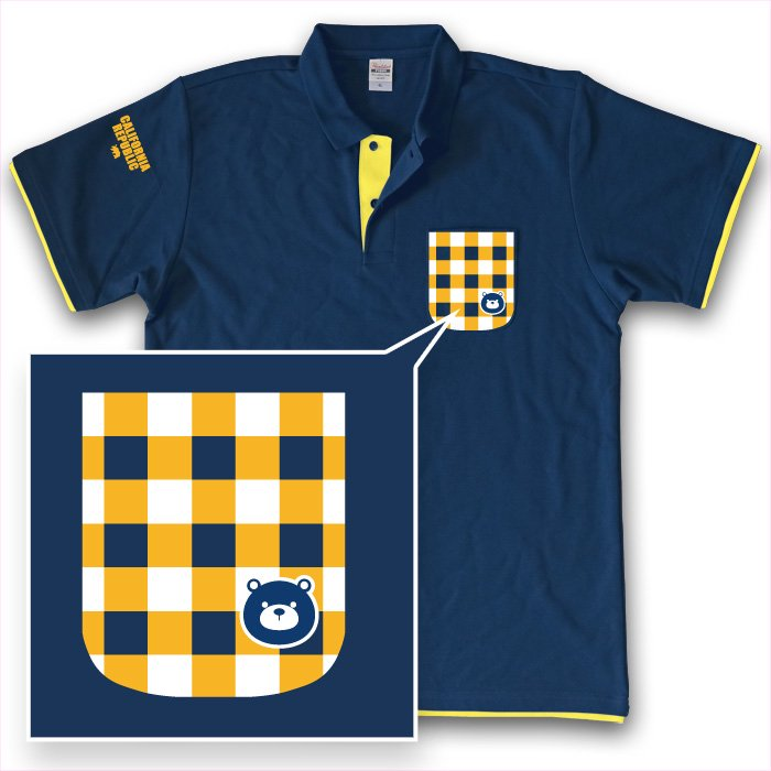 Grizzly Checked Polo(Navy x Yellow)