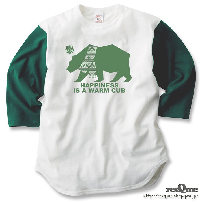 Warm Cub 3/4Sleeve (Natural x Green)