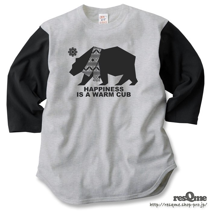 Warm Cub 3/4Sleeve (HeatherGray x Sumi)