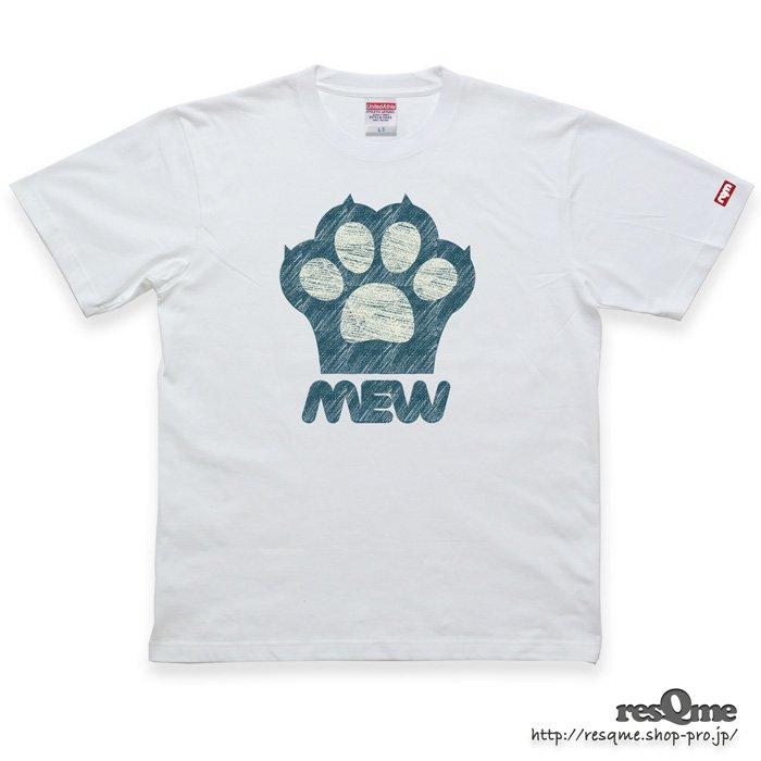 猫の肉球 TEE (White02)