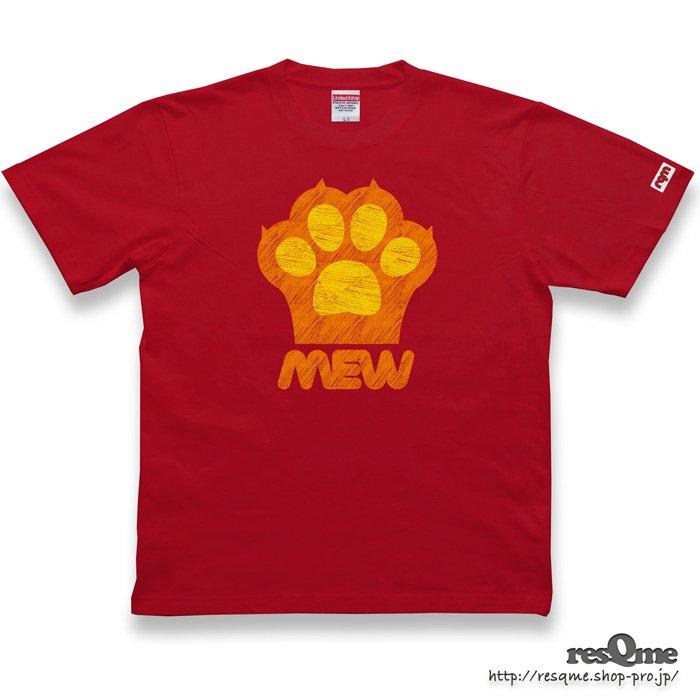 猫の肉球 TEE (Red)